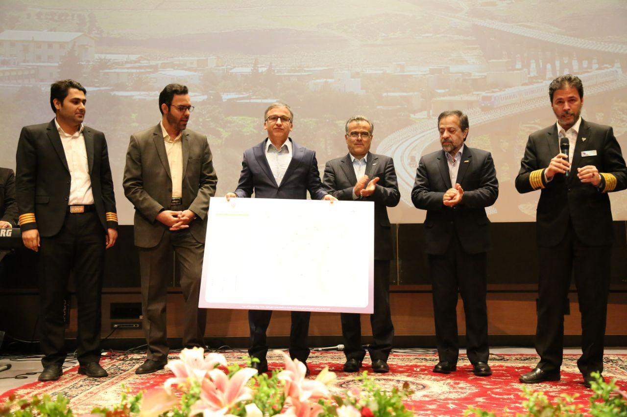 طراحی جامع ترین نقشه شبکه ریلی ایران توسط چند تن از روسای قطارهای مسافری