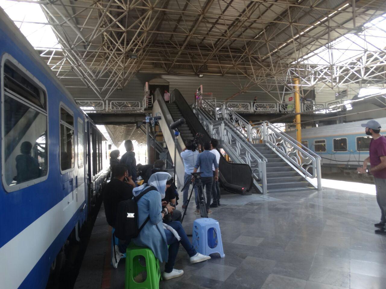 فیلم سینمایی «آخرین ایستگاه» در مراحل فیلمبرداری در ایستگاه راه آهن تهران