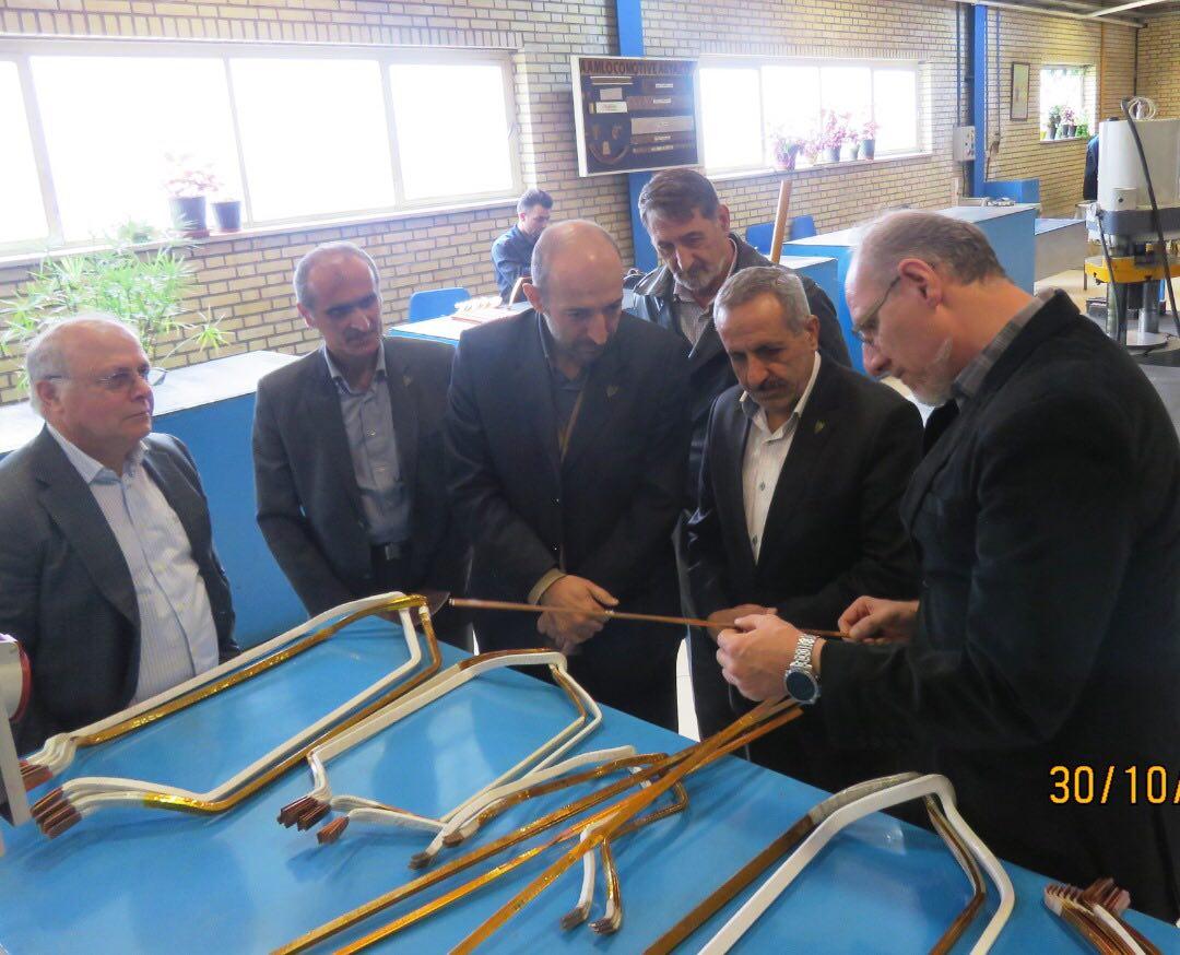 بازدید معاون ناوگان راه آهن ج.ا.ا از مجموعه های تولیدی قطعات لکوموتیو در استان البرز+گزارش تصویری