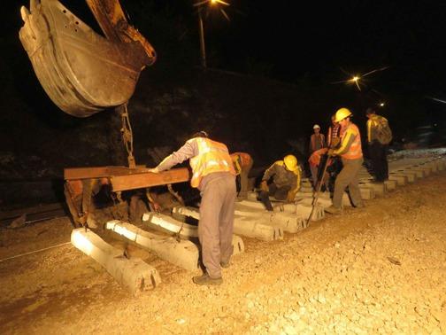 بهسازی مسیر ریلی راهآهن شمال/ اینجا شب نیست
