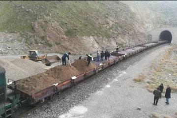 حمل مصالح راهسازی از طریق راه آهن رشت – قزوین میسر شد