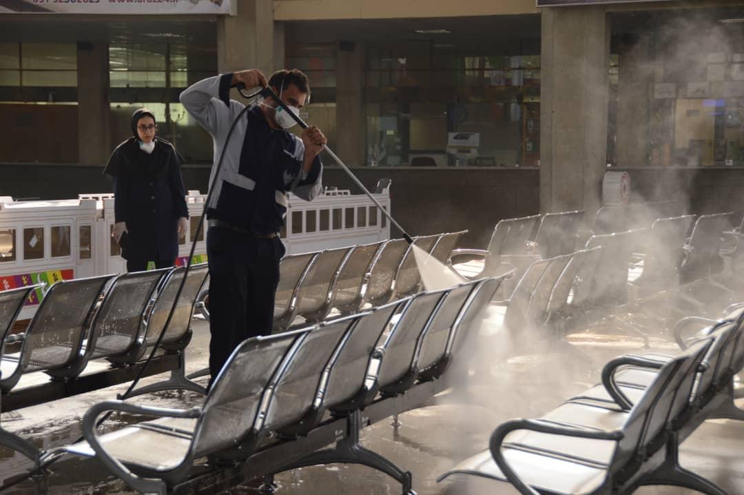 ضدعفونی فرودگاه و ایستگاه قطار در اهواز