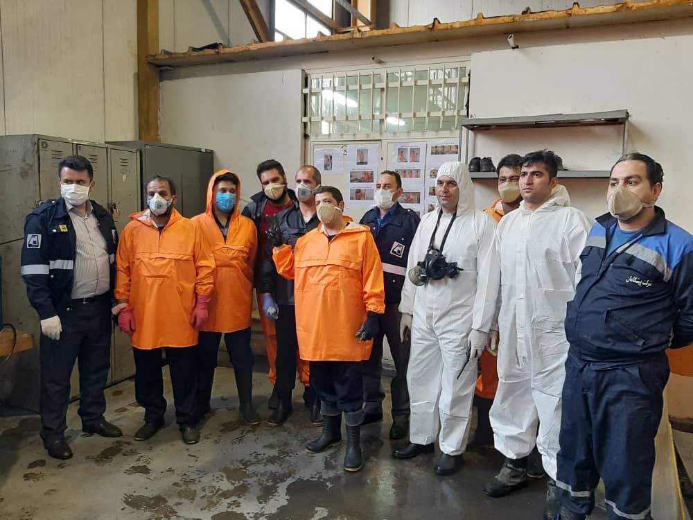 ضدعفونی کردن قطارها و پایانه غرب متروی تهران با همکاری سازمان آتشنشانی