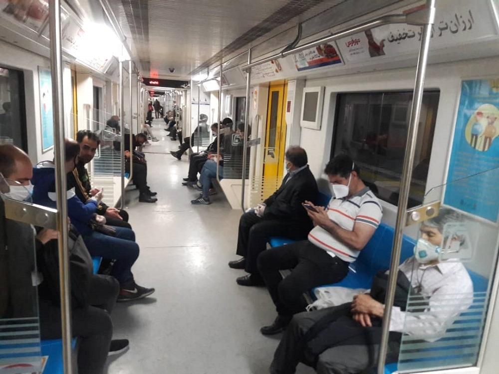 رعایت فاصله اجتماعی با مدیریت زمان سفر در مترو