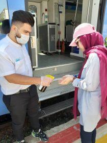 گزارش تصویری / قطار گردشگری با رعایت پروتکل های بهداشتی