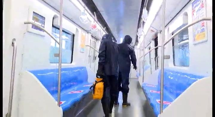 ضدعفونی مستمر قطار شهری تبریز