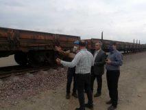 آغاز بارگیری شمش آهن در ایستگاه راه آهن رشت