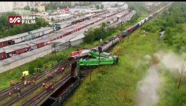 برخورد دو قطار با یکدیگر در روسیه