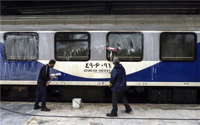 قطارهای راهآهن در هر بار مسافرگیری ضدعفونی میشوند