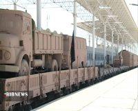 اعزام نمادین قطار رزمندگان اسلام به جبهههای جنگ