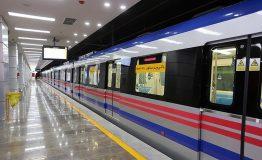 سوت قطار ملی در مترو تهران به صدا در میآید