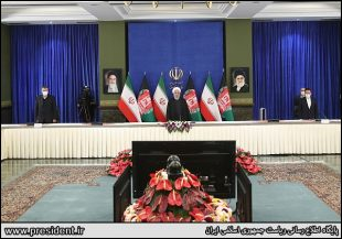 افتتاح راه آهن خواف هرات از لنز عکاس رئیس جمهوری