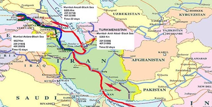 عبور ۲۰ قطار از کریدور میانی خزر در سال گذشته/ هدف از معرفی کریدور ترکیه-چین کمرنگ کردن خطآهن خواف-هرات بود