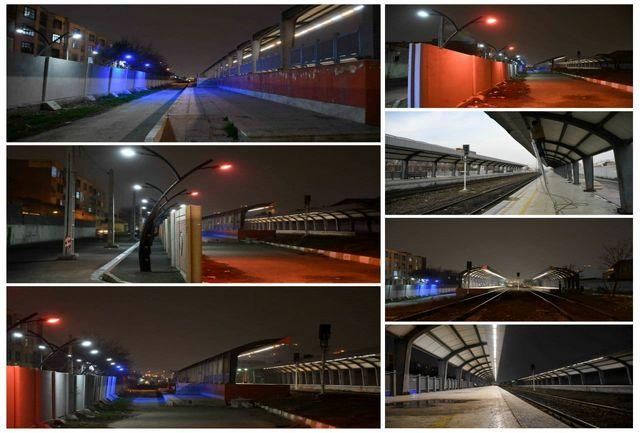 تامین روشنایی ایستگاه راه آهن توسط شهرداری قدس