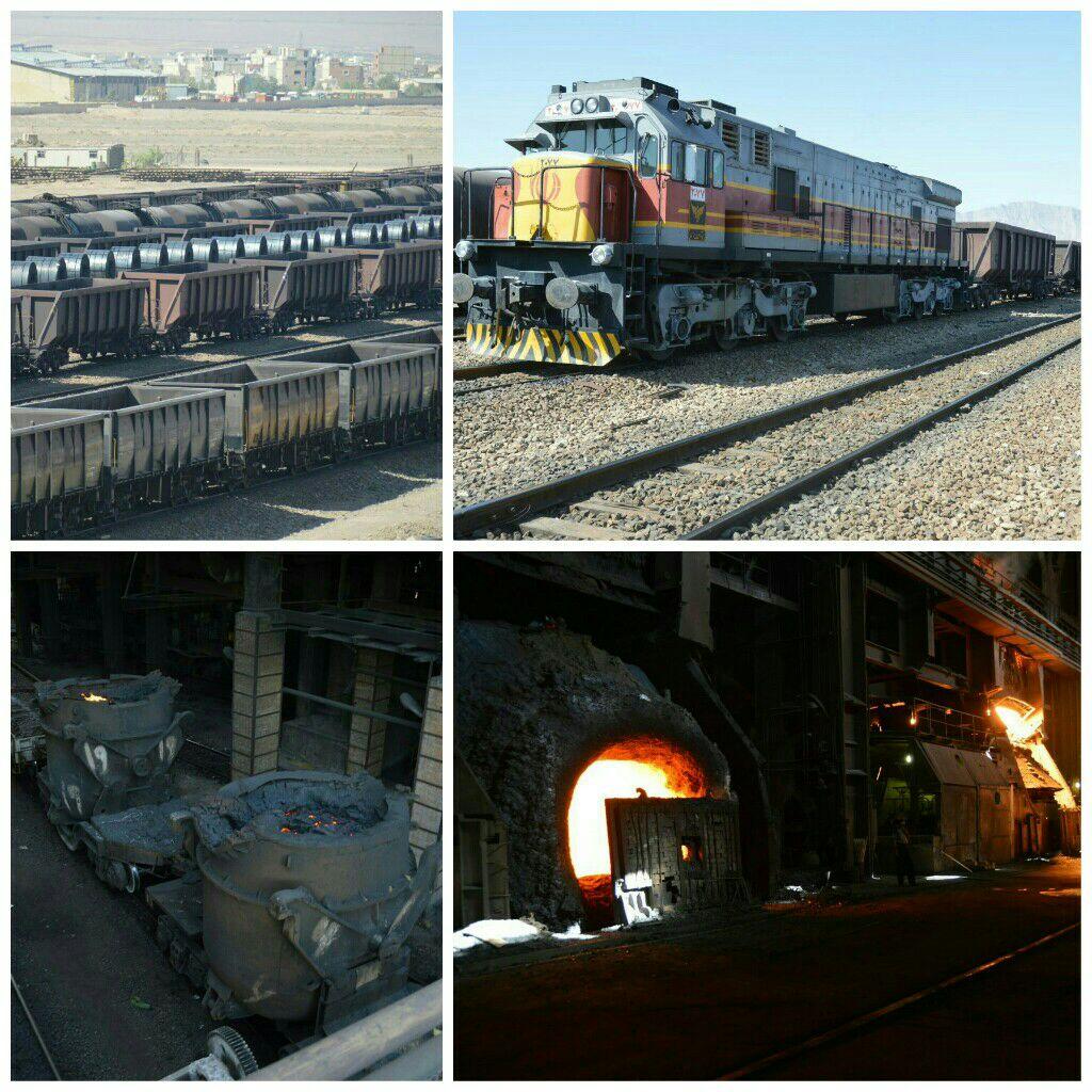 آغاز حمل محصولات ذوب آهن اصفهان برای نخستین بار ازطریق ریل