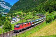 لحظاتی زیبا به همراه قطار گردشگری سوئیس