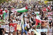 حضور پرشور کارکنان مناطق راه آهن کشور در راهپیمایی بزرگ روز قدس