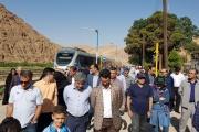 حضور وزیر محترم ارتباطات و معاونین همراه خانواده ها در تور گردشگری یکروزه پل سفید