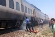قطار مسافری یزد از ریل خارج شد