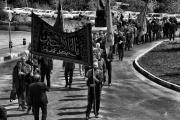 برگزاری مراسم عزاداری و سینهزنی سالار شهیدان از سوی کارکنان راهآهن /گزارش تصویری