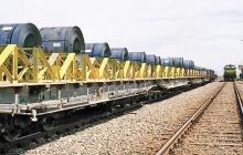 حمل انبوه ریلی محصولات ذوب آهن اصفهان