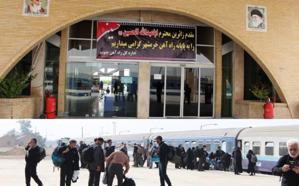 قطار خرمشهر- شلمچه بصورت آماده جا بجایی زائران اربعین است