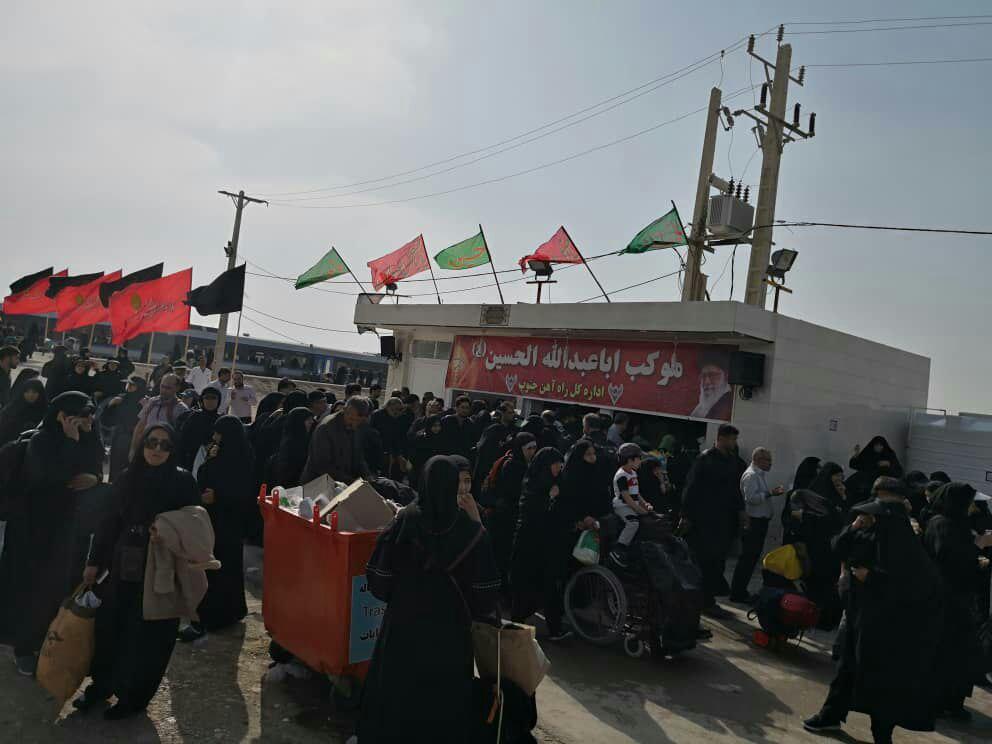 گزارش تصویری خدمات رسانی راه آهن جنوب به زائران اربعین حسینی