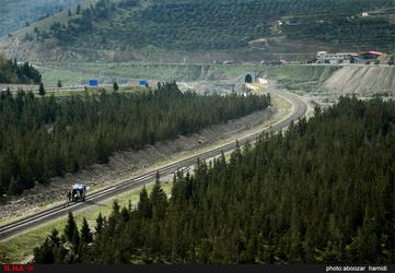 تصاویر راه آهن قزوین-رشت در روزهای پاییزی