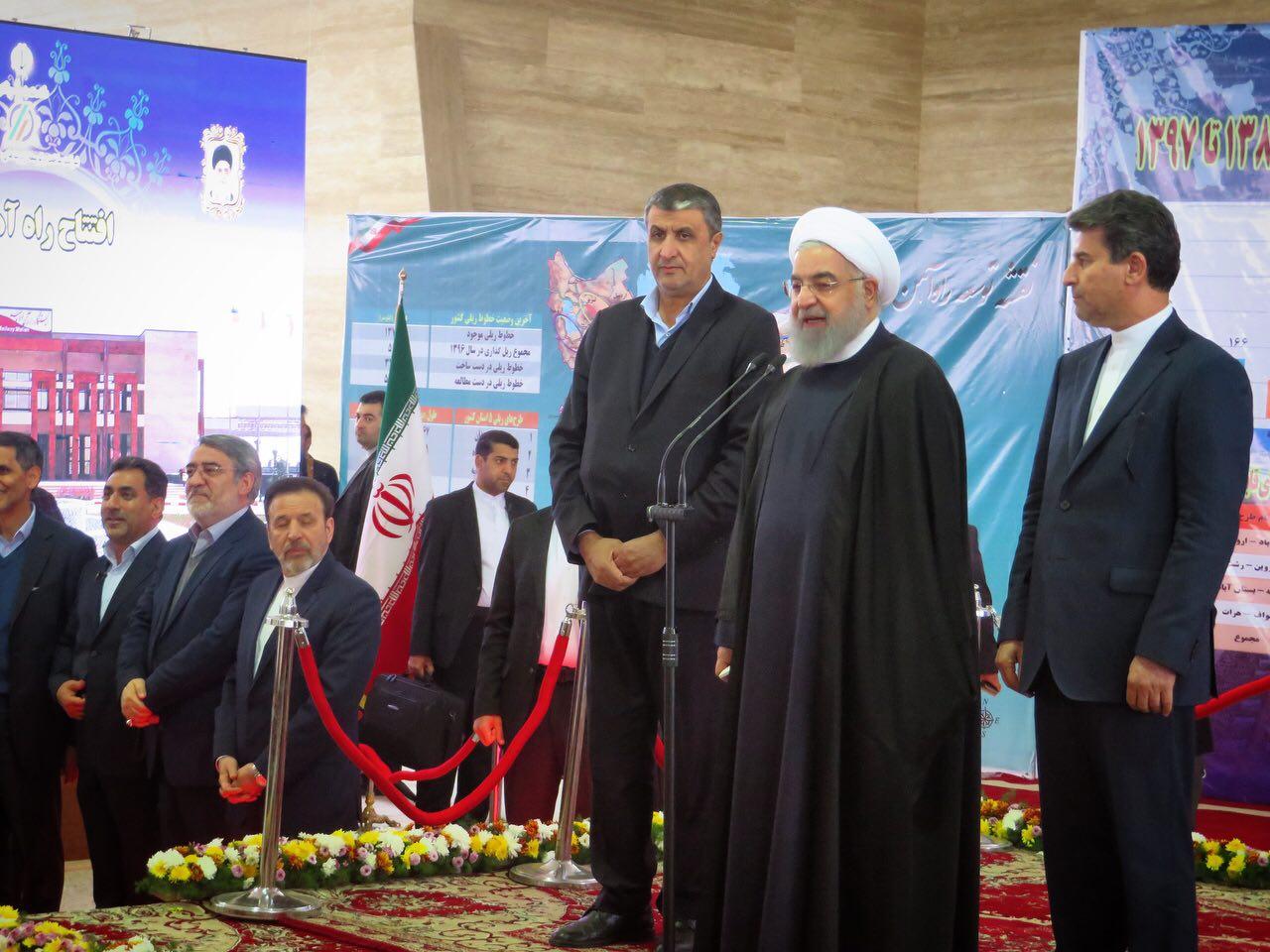 افتتاح راه آهن مراغه – ارومیه امروز با حضور رییس جمهور محترم/ گزارش تصویری جامع