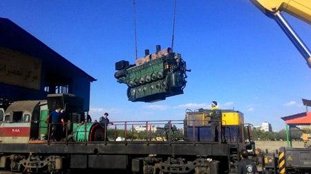 خودکفایی راه آهن مشهد در تعمیر ژنراتور لکوموتیو