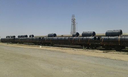 حمل ریلی ۱.۵ میلیون تن بار فولاد به صورت ترکیبی