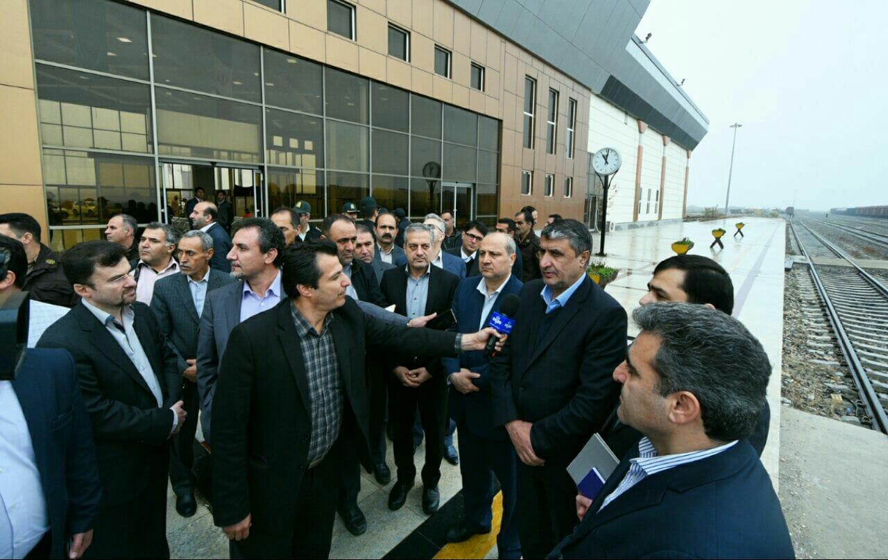 وزیر محترم راه و شهرسازی در سفر به استان گلستان از ایستگاه مرزی اینچه برون بازدید کرد