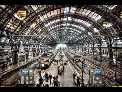 ایستگاه راه اهن شهر میلان ایتالیا