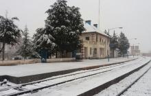 آرامش قطار در زمستان سرد و سپید/ گزارش تصویری
