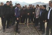 بازدید قائم مقام راه آهن ج.ا.ا از محور راه آهن قزوین - رشت