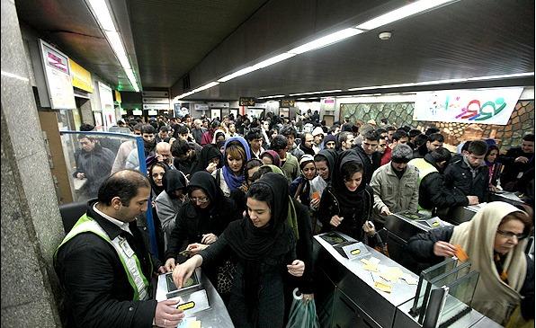 ركورد جابجايي روزانه مسافر در مترو شكست