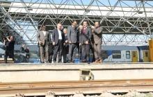 گزارش تصویری از بازدید کمیسیون عمران مجلس از سایت راهآهن تهران
