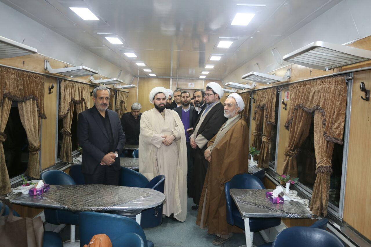 اعزام روحانی با قطار مسافری مشهد - اهواز