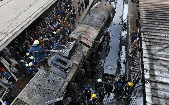 صدور حکم بازداشت ۶ نفر از متهمان انفجار قطار در مصر