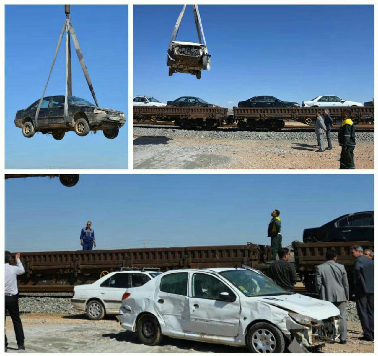 مسافرین و خودروهای آسیب دیده در سیل شیراز با قطار به مقاصدشان هدایت شدند + تصاویر