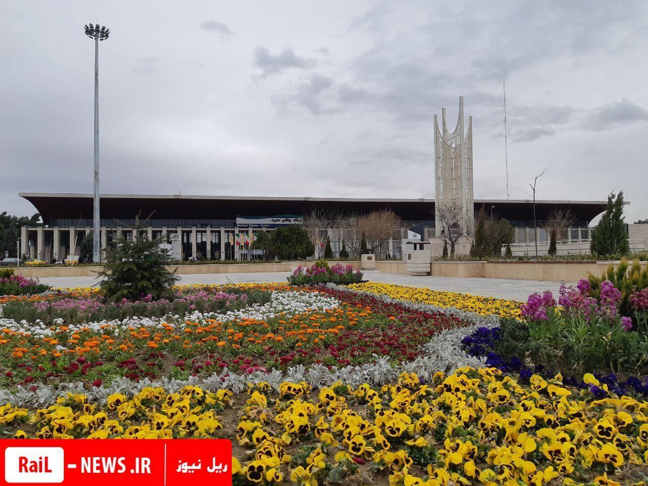 جابجایی ۹۱۶ هزار و ۳۰۰ زائر و مسافر در نوروز ۹۸ در اداره کل راه آهن خراسان
