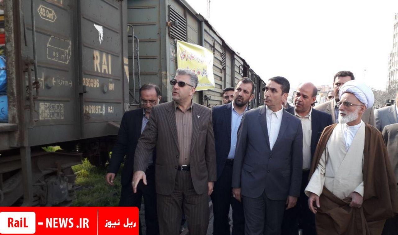 قدردانی آیت الله دری، امام جمعه اراک از راه آهن برای ارسال کمک های مردمی استان اراک