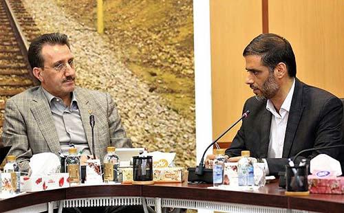 دیدار مدیرعامل راهآهن با فرمانده قرارگاه سازندگی خاتم الانبیا