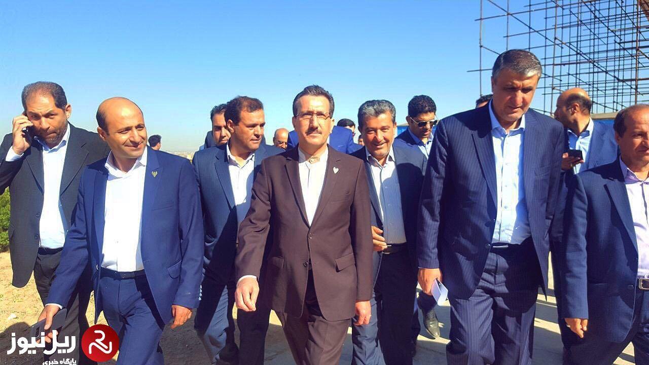 سفر وزیر راه و شهرسازی و مدیرعامل راه آهن به همدان