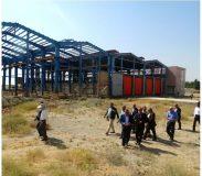 بررسی وضعیت پروژه سوله دپوی تعمیراتی در پایانه آپرین