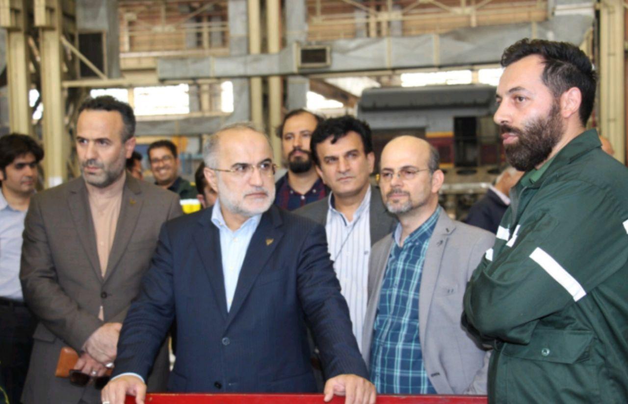 بازدید عاشوری قائم مقام راه آهن ج.ا.ا از کارخانجات بازسازی لکوموتیو کرج