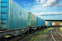 بارگیری محموله صادراتی سنگ نمک از ایستگاه گرمسار