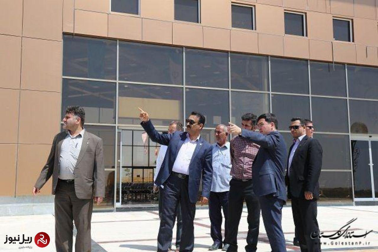 بازدید خدیر رحمانف مدیرعامل شرکت سهامی راه آهن ترکمنستان از پایانه ریلی اینچه برون