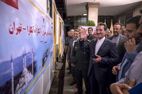 راه اندازی اولین قطار مسافری تهران ـ آنکارا