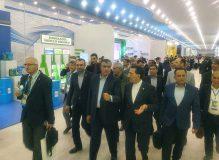 بازدید وزیر راه و شهرسازی و معاونین از نمایشگاه ترکمن باشی ترکمنستان